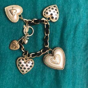 Betsey Johnson charms bracelet